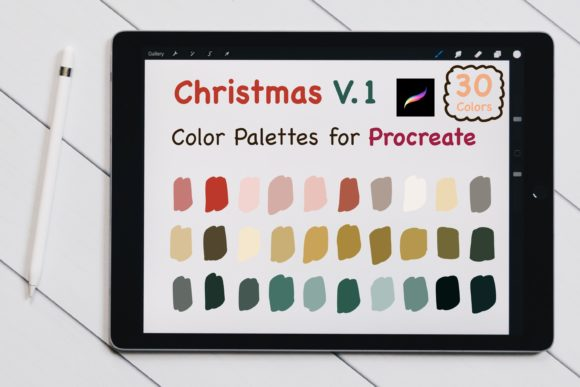 Procreate Color Palettes - Christmas V.1 Graphic Add-ons By jennythip