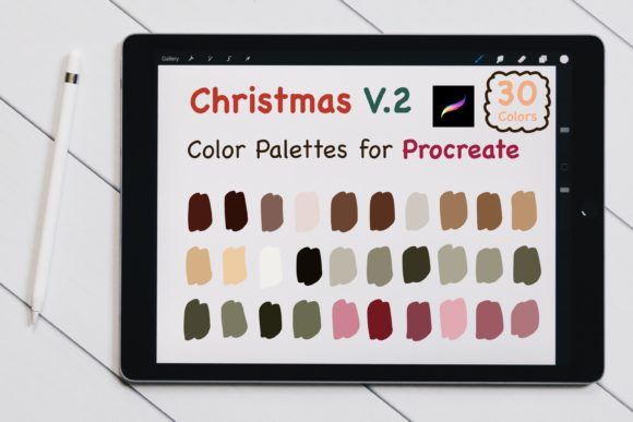 Procreate Color Palettes - Christmas V.2 Graphic Add-ons By jennythip