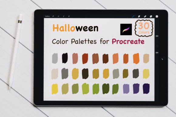 Procreate Color Palettes - Halloween Graphic Add-ons By jennythip