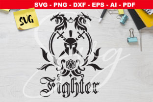 Print on Demand: RPG Class Emblem Fighter Graphic Crafts By Novart