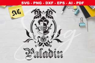 Print on Demand: RPG Class Emblem Paladin Grafik Plotterdateien von Novart