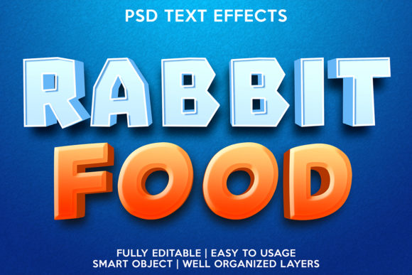Rabbit Food Text Effect Graphic Layer Styles By gilangkenter