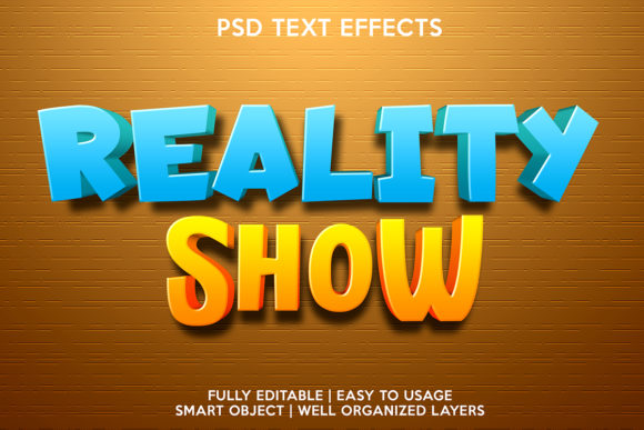 Reality Show Text Effect Graphic Layer Styles By gilangkenter