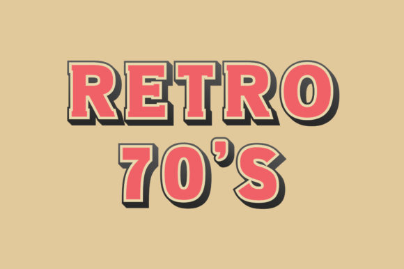 Print on Demand: Retro 70s Display Font By Vladimir Carrer