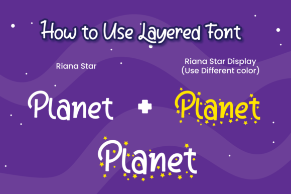 Riana Star Font Downloadable Digital File