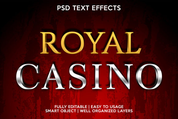 Royal Casino Text Effect Graphic Layer Styles By gilangkenter