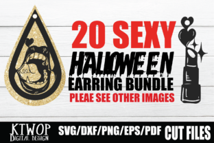 Print on Demand: Sexy Halloween Earring 20 Bundle Graphic Crafts By KtwoP