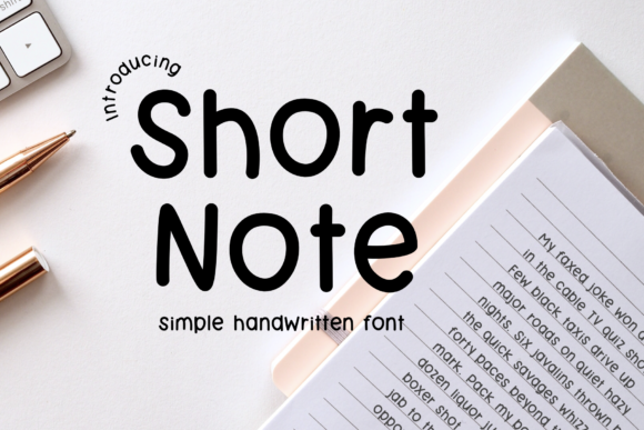 Print on Demand: Short Note Script & Handwritten Font By Jyllyco