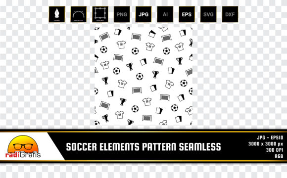 Soccer Elements Pattern Seamless Graphic Patterns By radigrafis