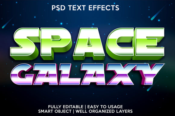 Space Galaxy Text Effect Graphic