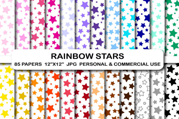 Stars Background Digital Papers Pack Graphic Backgrounds By bestgraphicsonline