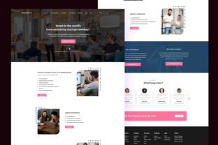 Startup Landing Page Graphic UX and UI Kits By artgalaxy