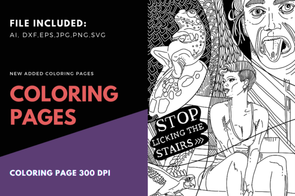 Print on Demand: Stop Liking the Stairs Momlife Coloring Graphic Coloring Pages & Books By stanosh