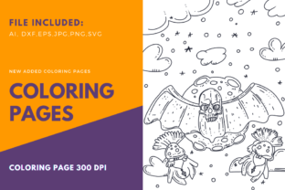 Print on Demand: Stupid Bat Halloween Coloring Page Graphic Coloring Pages & Books Adults By stanosh