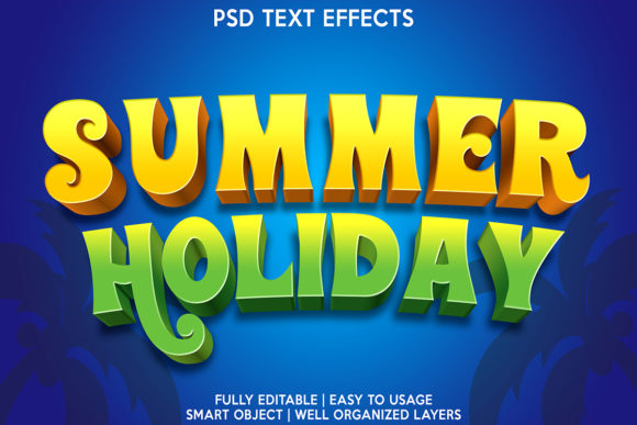 Summer Holiday Text Effect Graphic Layer Styles By gilangkenter