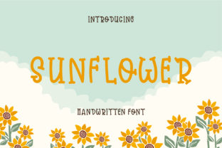 Print on Demand: Sunflower Script & Handwritten Font By Pila Studio