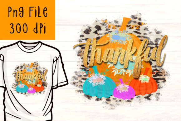 Print on Demand: Thankful Pumpkin Sublimation Graphic Graphic Crafts By CSDesign