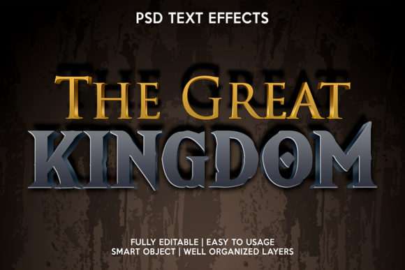 The Great Kingdom Text Effect Graphic Layer Styles By gilangkenter