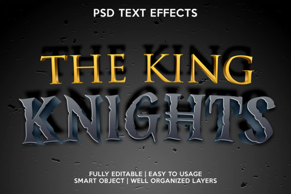 The King Kngihts Text Effect Graphic Layer Styles By gilangkenter