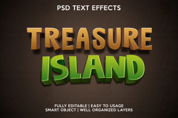Treasure Island Text Effect Graphic Layer Styles By gilangkenter