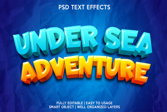 Undersea Adventure Text Effect Graphic Layer Styles By gilangkenter