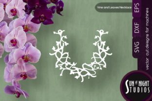 Vine and Leaves Necklace Graphic Crafts By Sun At Night Studios