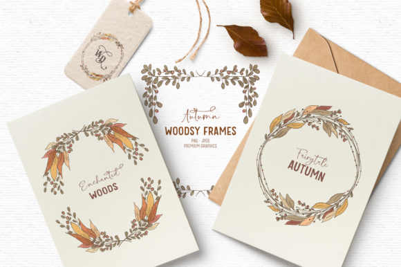 Print on Demand: Vintage Fall Clipart Wreaths Graphic Illustrations By Wallifyer