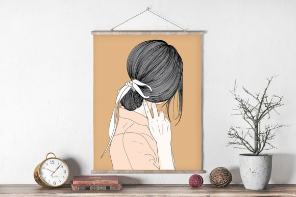 Print on Demand: Wall Art Hairstyle at Friends Wedding Graphic Illustrations By Saydung89