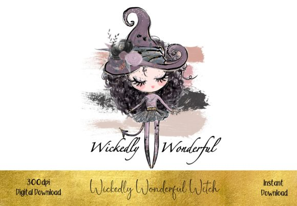 Wickedly Wonderful Witch Graphic Illustrations By STBB