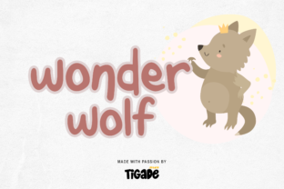 Print on Demand: Wonder Wolf Script & Handwritten Font By Tigade std