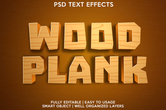 Wood Plank Text Effect Graphic Layer Styles By gilangkenter
