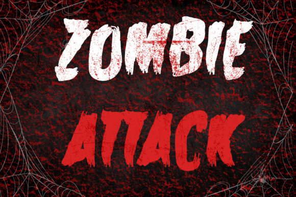 Print on Demand: Zombie Attack Script & Handwritten Font By Vladimir Carrer