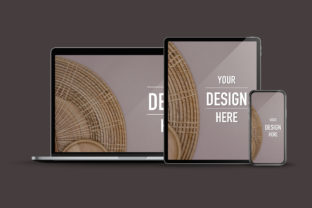 Mock-up of Laptop Computer Graphic Product Mockups By bongkarngraphic