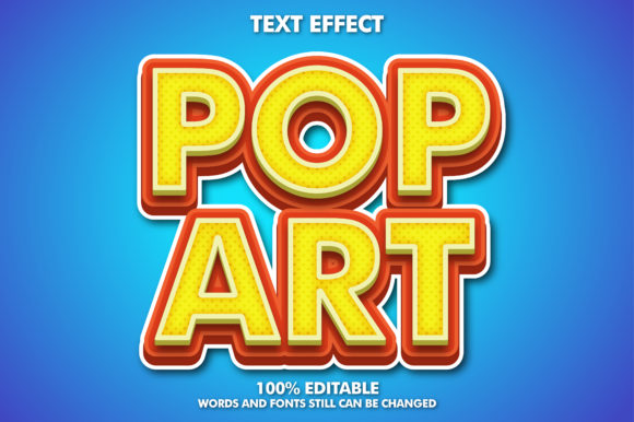 Pop Art Text Effect Graphic Layer Styles By memetxsaputra