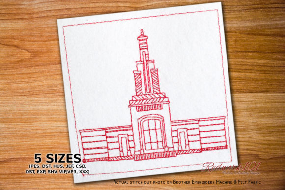 Accra City Skyline Lineart Design Africa Embroidery Design By Redwork101