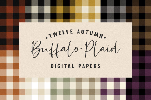 Print on Demand: Autumn Buffalo Plaid Digital Papers Graphic Textures By Starsunflower Studio