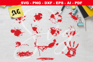 Print on Demand: Blood Splatter Bundle Gráfico Crafts Por Novart