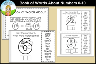 Print on Demand: Book of Words About Numbers 0-10 Graphic K By Aisne Educlips