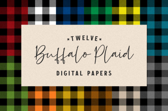 Print on Demand: Bright Autumn Buffalo Plaid for Fall Graphic Textures By Starsunflower Studio