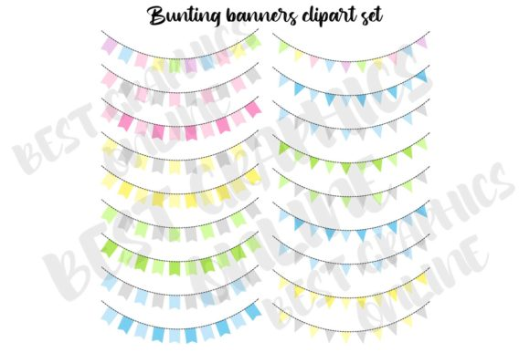 Bunting Banners Garland Party Flag Image Graphic Illustrations By bestgraphicsonline