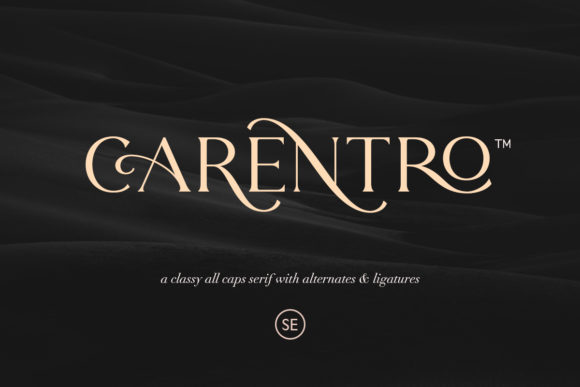 Print on Demand: Carentro Serif Font By saridezra