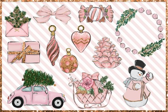 Christmas Clipart Png Set Graphic Download