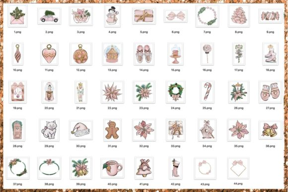 Christmas Clipart Png Set Graphic Design Item
