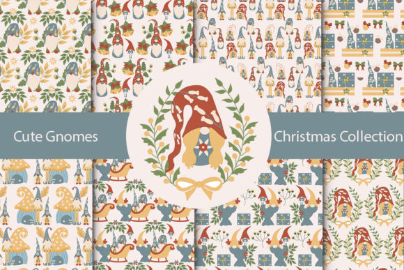 Print on Demand: Christmas Gnome Collection Graphic Illustrations By Andreea Eremia Design