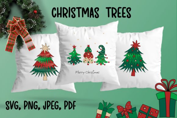 Christmas Trees Graphic Illustrations By inkoly.art