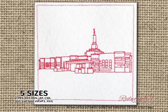 Church of Jesus Christ in Aba Nigeria Africa Embroidery Design By Redwork101