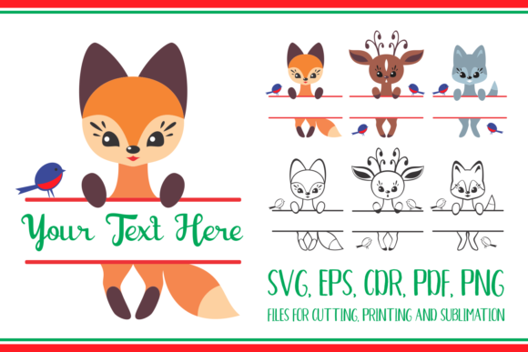 Download Cute Forest Animals. Split for Name. Chr SVG Cut Files