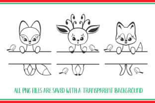 Print on Demand: Cute Forest Animals. Split for Name. Chr Graphic Crafts By Olga Belova 3