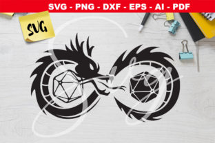 Print on Demand: D&D Logo - Infinity Dragon Dice RPG Graphic Crafts By Novart