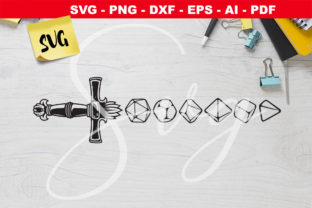 Print on Demand: DND Dice Sword - Rpg - D20  Gráfico Crafts Por Novart
